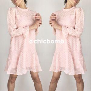 Lush blush fully lined dress